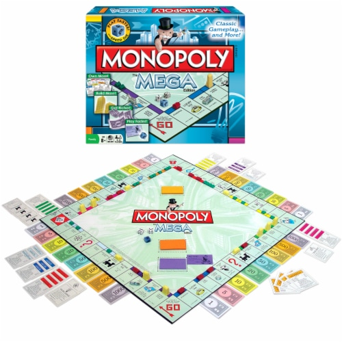 Winning Moves Games Monopoly The Mega Edition Board Game Perspective: front