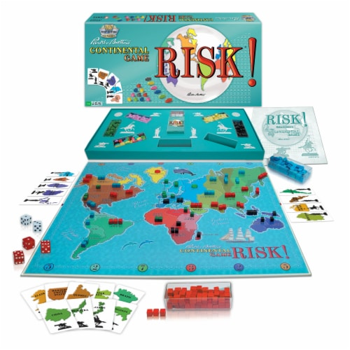 Winning Moves Games Risk 1959 Board Game Perspective: front