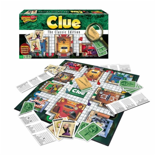 Winning Moves Games Clue Classic Edition Board Game Perspective: front