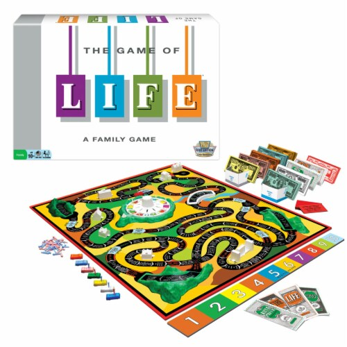 Winning Moves Games The Game of Life Classic Edition Board Game Perspective: front