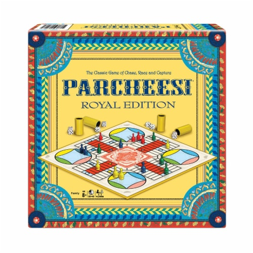 Winning Moves Games Parcheesi Royal Edition Board Game Perspective: front