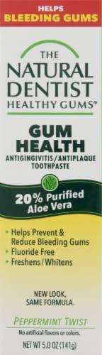The Natural Dentist Antigingivitis/Antiplaque Peppermint Twist Toothpaste Perspective: front