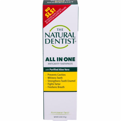 The Natural Dentist Peppermint Twist Toothpaste Perspective: front