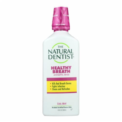 Natural Dentist Healthy Breath Antiseptic Rinse Perspective: front