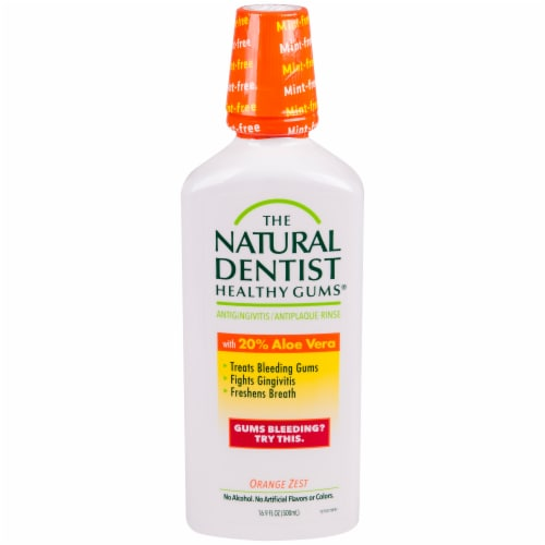 The Natural Dentist Orange Zest Antigingivitis Rinse Perspective: front