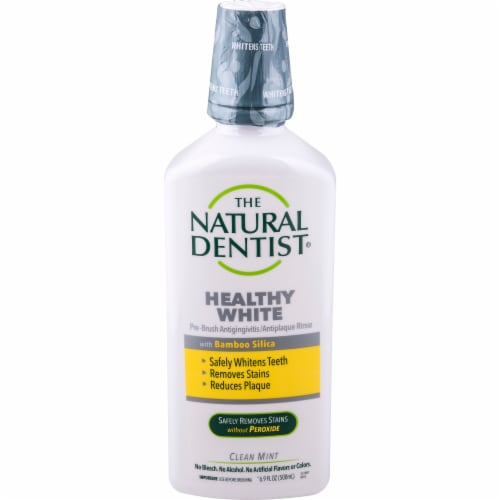 Natural Dentist Healthy White Clean Mint Pre-Brush Rinse Perspective: front