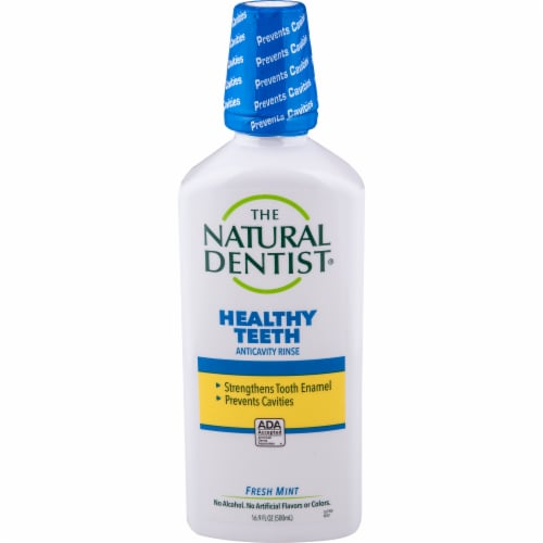 The Natural Dentist Healthy Teeth™ Fresh Mint Fluoride Rinse Perspective: front