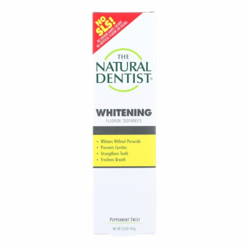 Natural Dentist Healthy Teeth and Gums Whitening Toothpaste Peppermint Twist - 5 oz Perspective: front