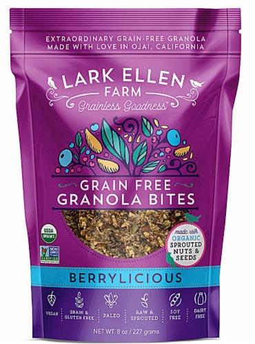 Lark Ellen Farm  Organic Grain Free Granola Bites Gluten Free   Berrylicious Perspective: front