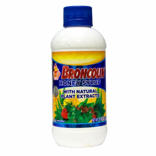 Broncolin Honey Syrup Dietary Supplement Perspective: front