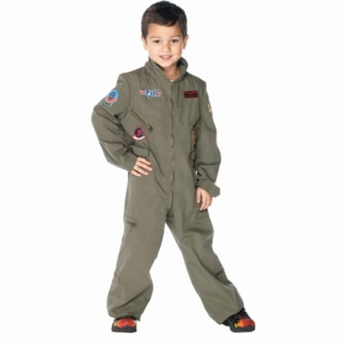 Leg Avenue 199022 Top Gun- Flight Suit Toddler- Child Costume Size: Small (4/6) Perspective: front