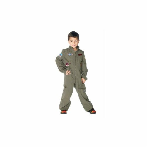 Costumes For All Occasions UATG48164MD Top Gun Flight Suit Chld Med Perspective: front