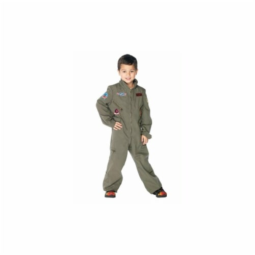Costumes For All Occasions UATG48164LG Top Gun Flight Suit Chld Large Perspective: front