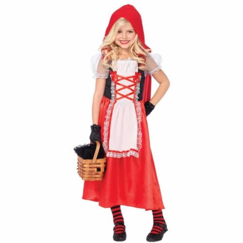 Morris Costume UAC48143MD Red Riding Hood 2 Piece Child Costume, Medium Perspective: front