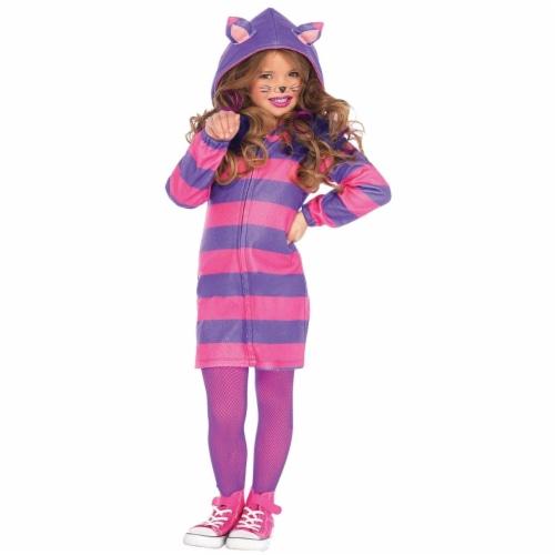 Morris Costume UAC49106MD Cat Cheshire Cozy Child Costume, Medium 7-8 Perspective: front