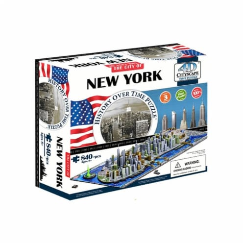 4D Cityscape New York USA Time Puzzle Perspective: front