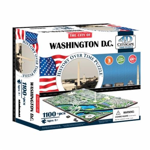 4D Cityscape Washington DC USA Time Puzzle Perspective: front