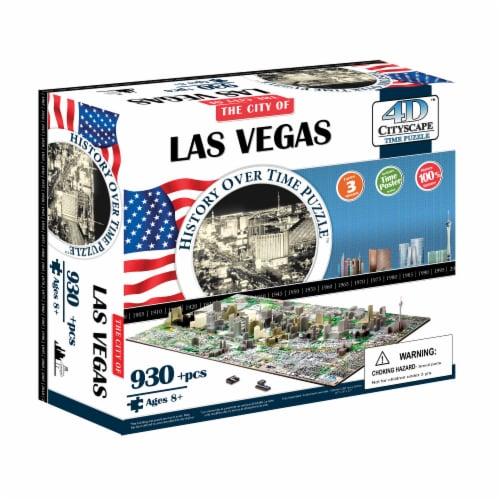 4D Cityscape Las Vegas USA Time Puzzle Perspective: front