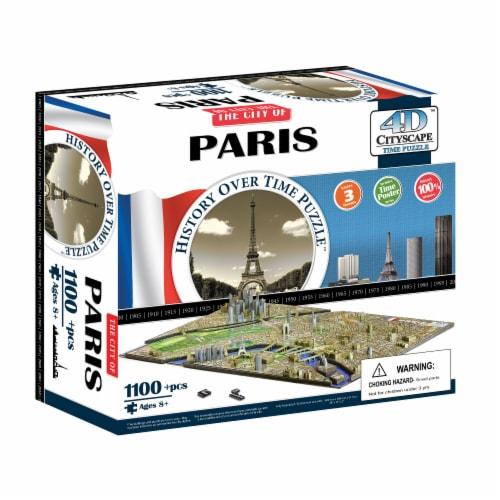 4D Cityscape Paris France Time Puzzle Perspective: front