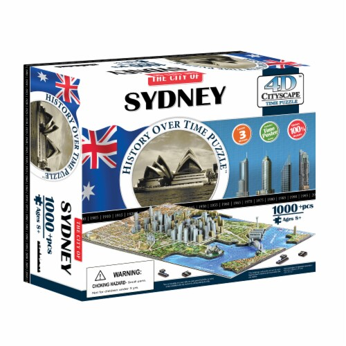 4D Cityscape Sydney History Over Time Puzzle Perspective: front