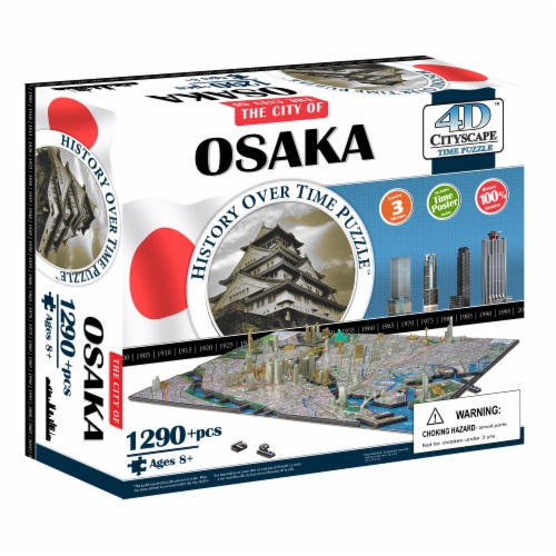 4D Cityscape Osaka Japan Time Puzzle Perspective: front