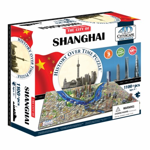 4D Cityscape Shanghai China Time Puzzle Perspective: front