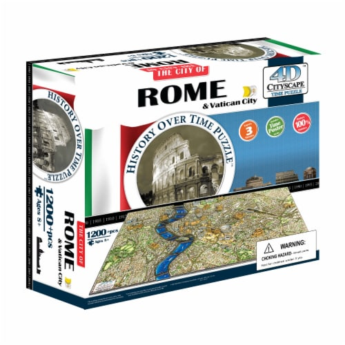 4D Cityscape Rome Italy Time Puzzle Perspective: front