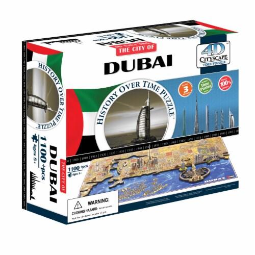 4D Cityscape Dubai UAE Time Puzzle Perspective: front