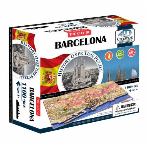 4D Cityscape Barcelona Spain Time Puzzle Perspective: front