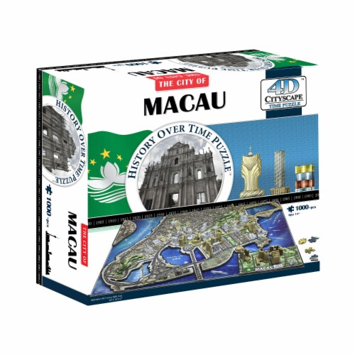 4D Cityscape Macau History Over Time Puzzle Perspective: front