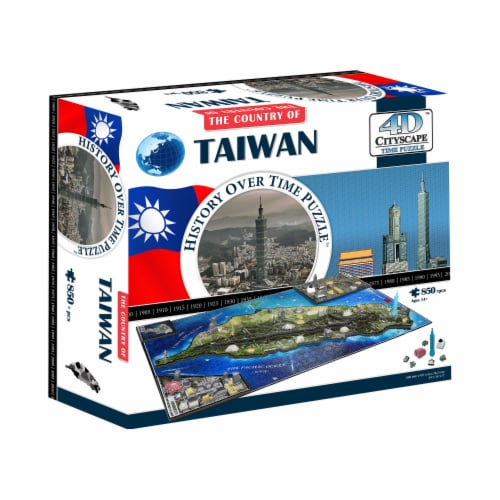 4D Cityscape Taiwan Time Puzzle Perspective: front