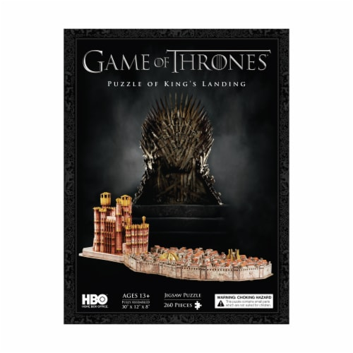 4D Cityscape Game of Thrones: Kings Landing Puzzle Perspective: front