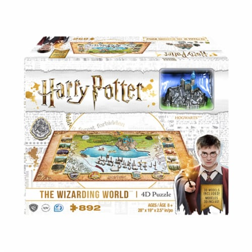 4D Cityscape Harry Potter Wizarding World Puzzle Perspective: front