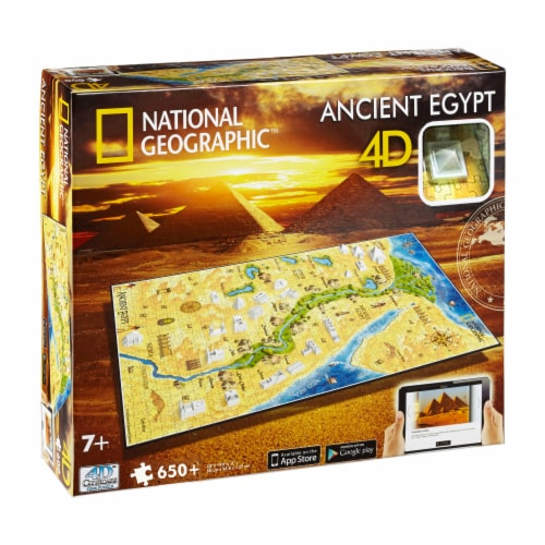 4D Cityscape National Geographic Ancient Egypt Time Puzzle Perspective: front