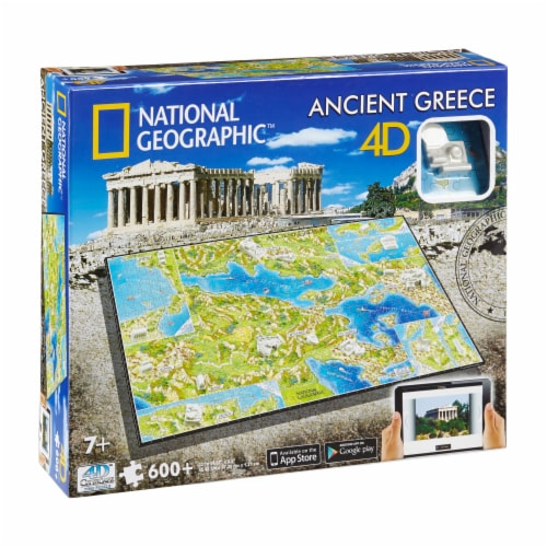 4D Cityscape National Geographic Ancient Greece Time Puzzle Perspective: front