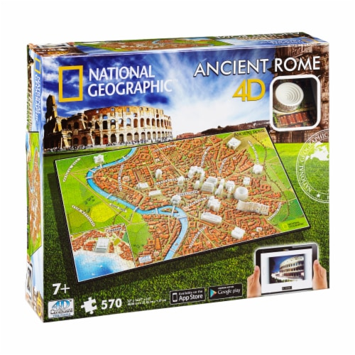 4D Cityscape National Geographic Ancient Rome Time Puzzle Perspective: front