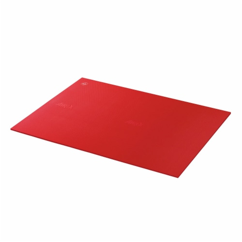 Airex Atlas Closed Cell Foam Fitness Mat for Yoga, Pilates, and Gym Use, Red Perspective: front