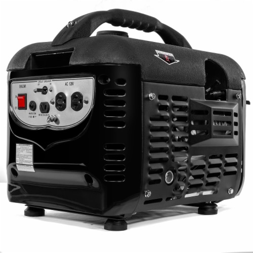 2000W Generator Gas-Portable Quiet RV Camping 4-Stroke, Black Perspective: front
