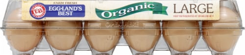 Eggland's Best Organic Cage Free Grade A Large Brown Eggs Perspective: front