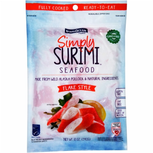 Trans-Ocean® Simply Surimi Flake Style Imitation Crab Perspective: front