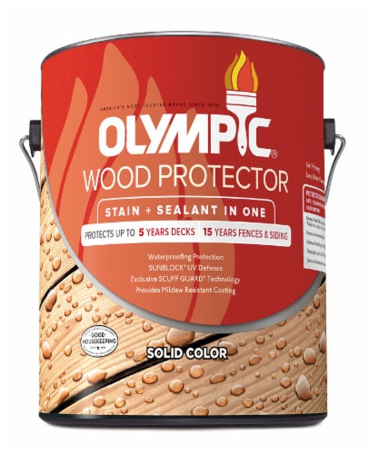 Olympic Wood Protector Stain and Sealant - Solid Color Perspective: front
