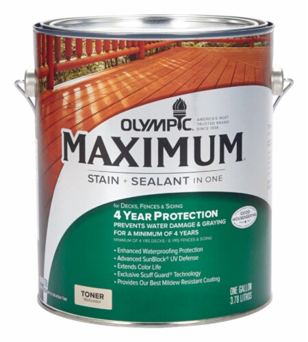 Olympic® Maximum® Canyon Brown Toner Stain and Sealant Perspective: front