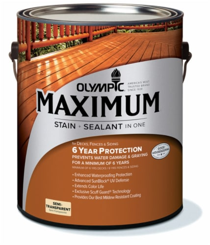 Olympic® Maximum® Neutral Base Semi Transparent Stain and Sealant Perspective: front