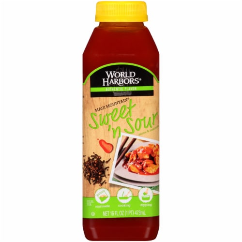 Kroger World Harbors Maui Mountain Sweet N Sour Sauce Marinade 16 Fl Oz