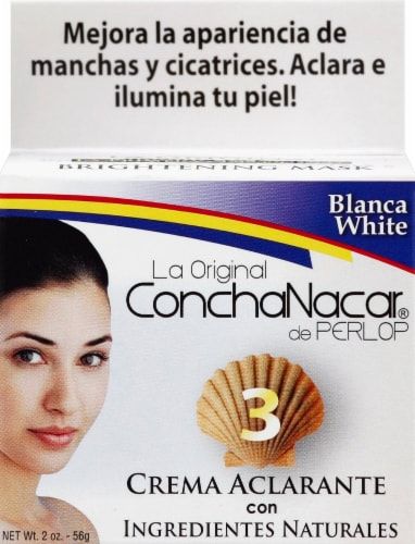 Concha Nacar 3 Blanca White Bleach Face Cream Perspective: front