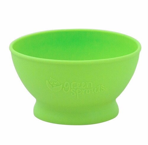 Green Sprouts  Feeding Bowl Green Perspective: front