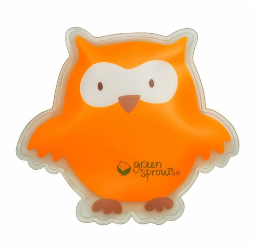 Green Sprouts Owl Cool Calm Press - Orange Perspective: front