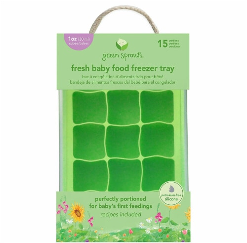 Green Sprouts  Fresh Baby Food Freezer Tray Green Perspective: front