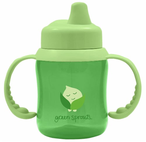 Green Sprouts  Non-Spill Sippy Cup Green Perspective: front