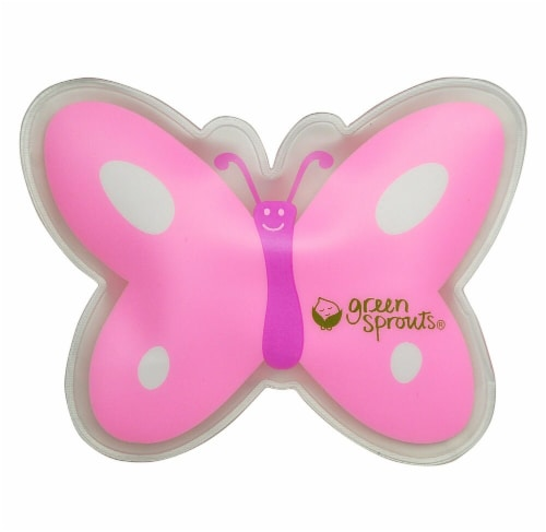 Green Sprouts Butterfly Cool Calm Press - Pink Perspective: front